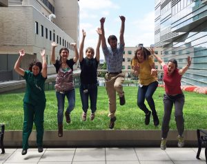 2016 Summer Scholars and Fellows jump for joy at the thought of their summer research projects!